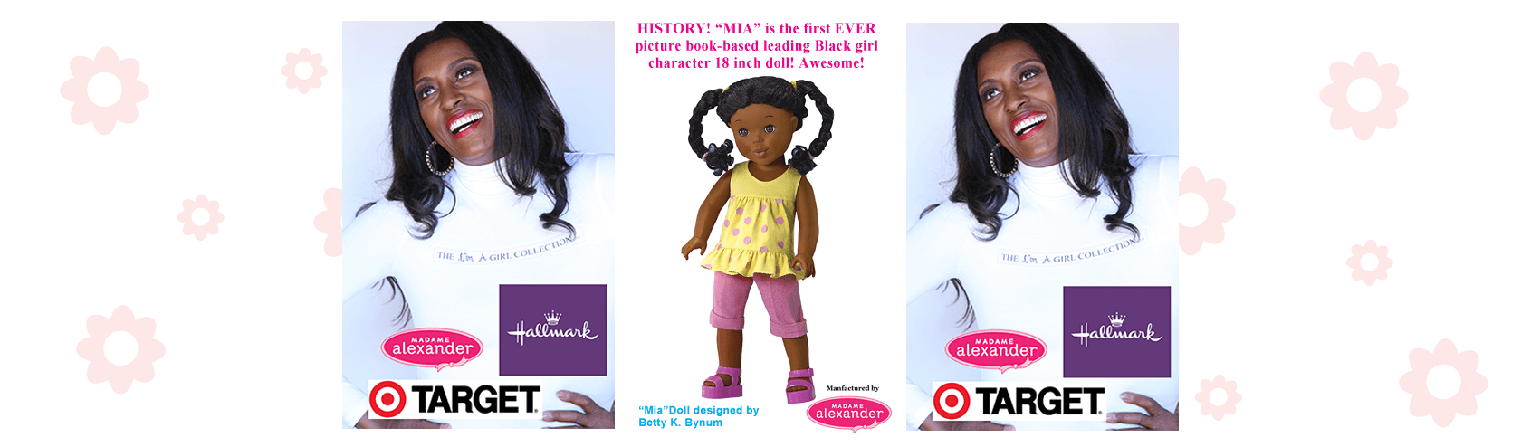 Pretty Little Black Girl Doll - Mia